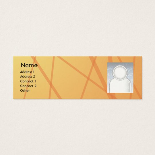 Orange Sticks - Skinny Mini Business Card