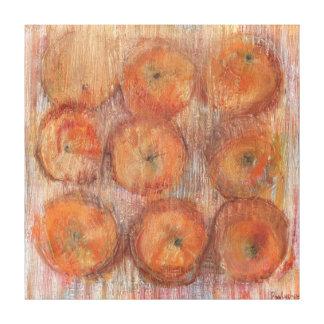 Orange Still Life Large Wall Art Canvas Print