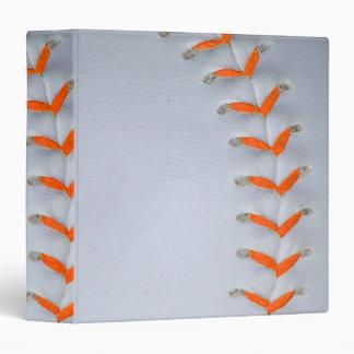 Orange Stitches Baseball Binder