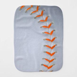 Orange Stitches Baseball / Softball Burp Cloth