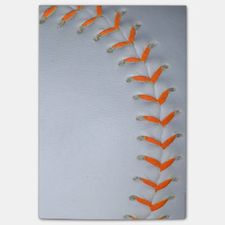 Orange Stitches Baseball / Softball Post-it Notes
