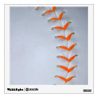 Orange Stitches Baseball Wall Decal