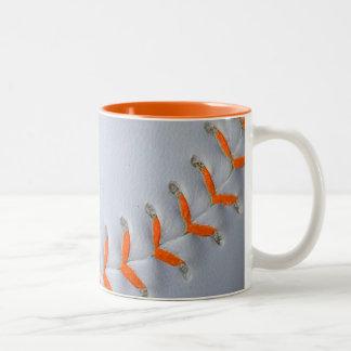 Orange Stitches Softball / Baseball Mug