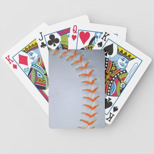Orange Stitches Softball / Baseball Playing Cards