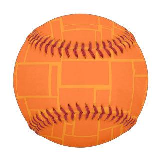 Orange Stone Pattern Baseball