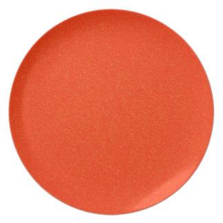 Orange Stone Textured Plate