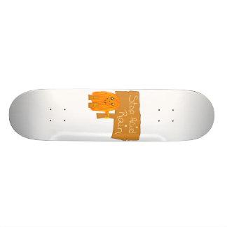 orange stop acid rain skate board