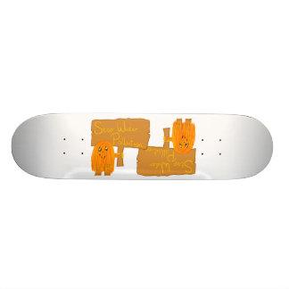 orange stop water pollution skate board
