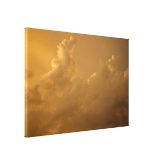 Orange storm clouds Stretched Canvas Print