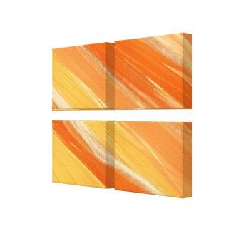 Orange Streaked Abstract Canvas Print
