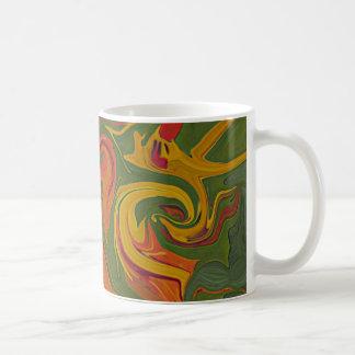 orange streamers colorful mug