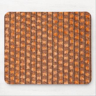Orange string base with orange fur mouse pad