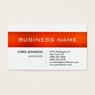 Orange Stripe Black White Charming Business Card