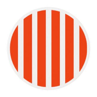 Orange stripe - cupcake topper edible frosting rounds