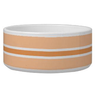 Orange Stripe Large Pet Bowl