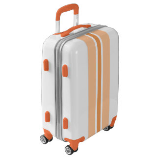 Orange Stripe Luggage Suitcase