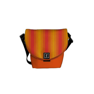 Orange Stripe Courier Bag