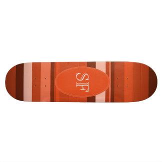 Orange Stripe Monogram Skateboard