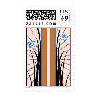 Orange Stripe Postage Stamp