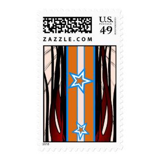Orange Stripe Stamps