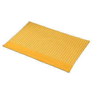 Orange Striped Cloth Placemat