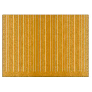 Orange Striped Cutting Board