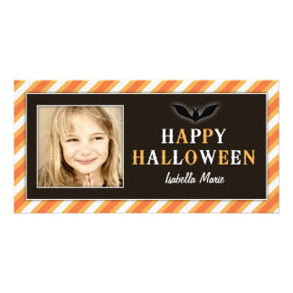 ORANGE STRIPED | HALLOWEEN PHOTO CARD