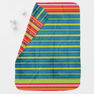Orange Striped Reversible Swaddle Blanket