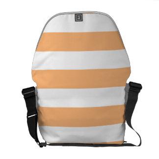 Orange Stripes 1 Messenger Bag
