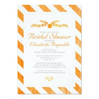 Orange Stripes Bridal Shower Invitations