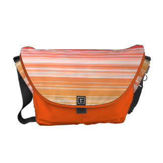 Orange stripes courier bag