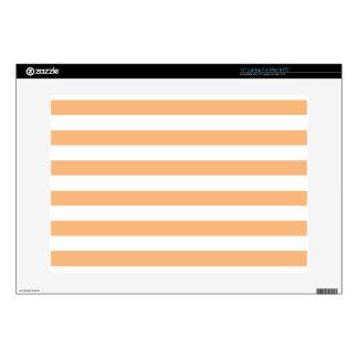 Orange Stripes Laptop Decals