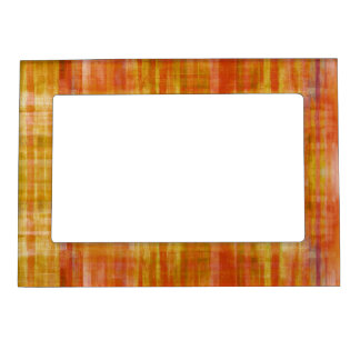 Orange Stripes Magnetic Frame