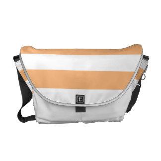 Orange Stripes Courier Bags