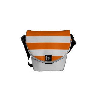 Orange Stripes on White Courier Bag
