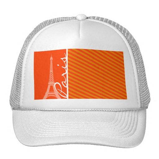 Orange Stripes; Paris Mesh Hat