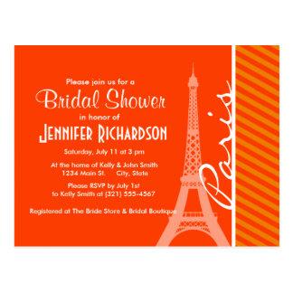 Orange Stripes; Paris Postcard