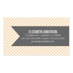 Orange Stripes Social Calling Cards Business Cards