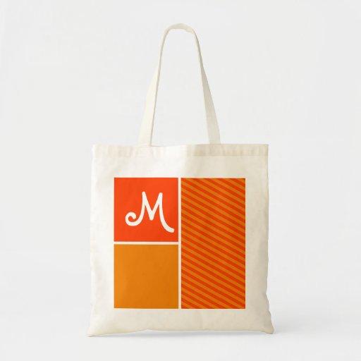 Orange Stripes; Striped Bag