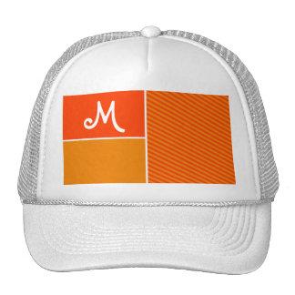 Orange Stripes; Striped Trucker Hats