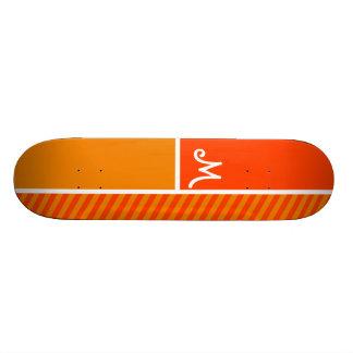 Orange Stripes; Striped Skateboard