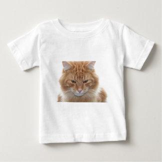 Orange Stripped Tabby Cat Baby T-Shirt
