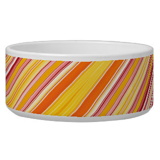 Orange strips pattern bowl