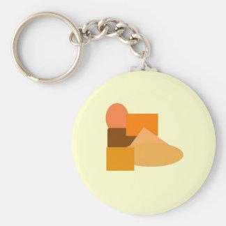orange stuff 2 basic round button keychain