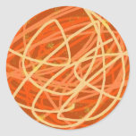 orange stuff round sticker