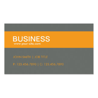 Orange Stylish Classy Plain Simple Groupon Double-Sided Standard Business Cards (Pack Of 100)