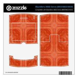 Orange stylish wood pattern BlackBerry 8820 decals