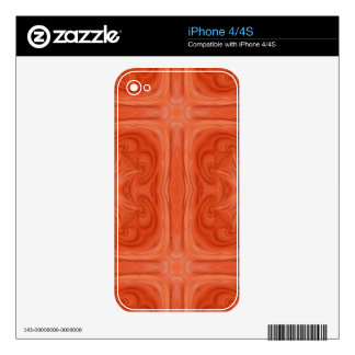 Orange stylish wood pattern iPhone 4S skins