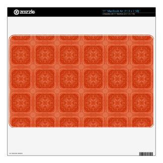 Orange stylish wood pattern skin for the MacBook