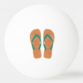 Orange Summer Beach Party Flip Flops Ping Pong Ball